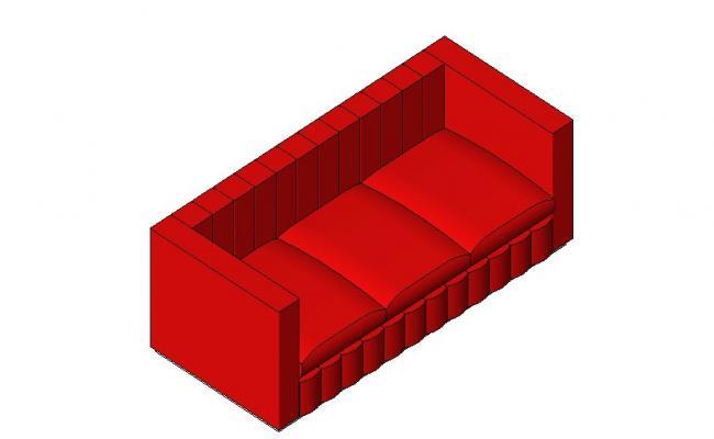Dynamic three seated sofa set block 3d cad drawing details skp file