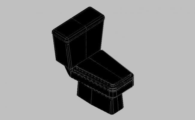Dynamic toilet sheet 3d elevation block cad drawing details skp file