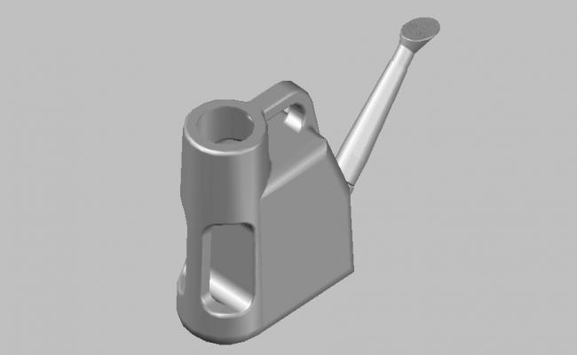 Dynamic watering can 3d block cad drawing details dwg file