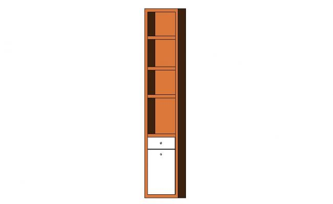 Dynamic wooden 3d cabinet cad block details dwg file