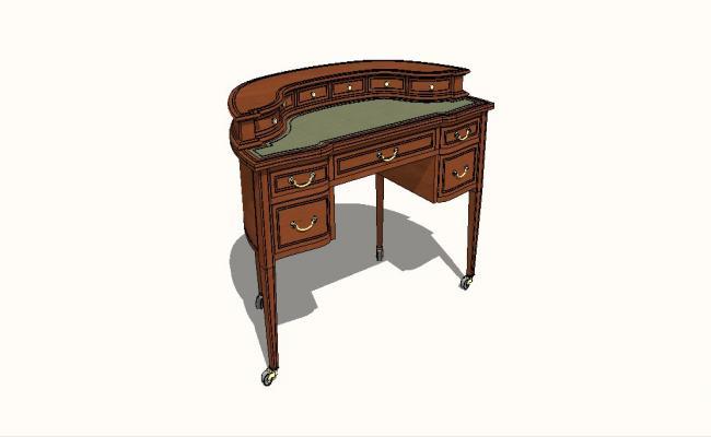 Dynamic wooden cabinet 3d model cad drawing details skp file