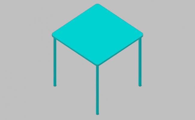 Dynamic wooden small stool 3d block cad drawing details skp file