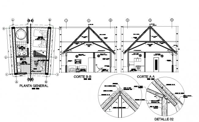 Eco-logical resort plan detail dwg file,