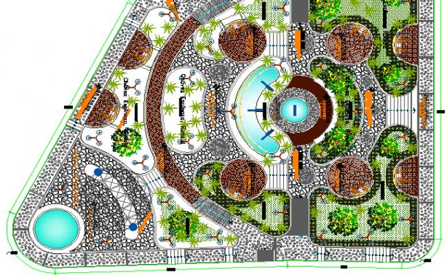 Ecological Public Park Architecture Design & Structure Details dwg file.