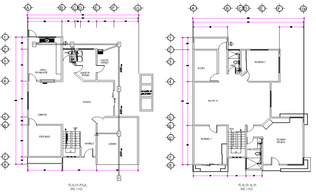 Ecological house plan autocad file
