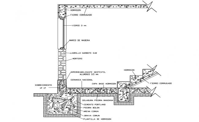 Edge section Plan