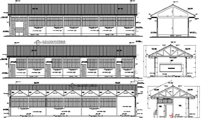 Education center design in DWG file