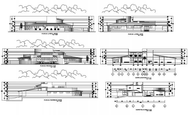Educational Architecture Building CAD Drawing