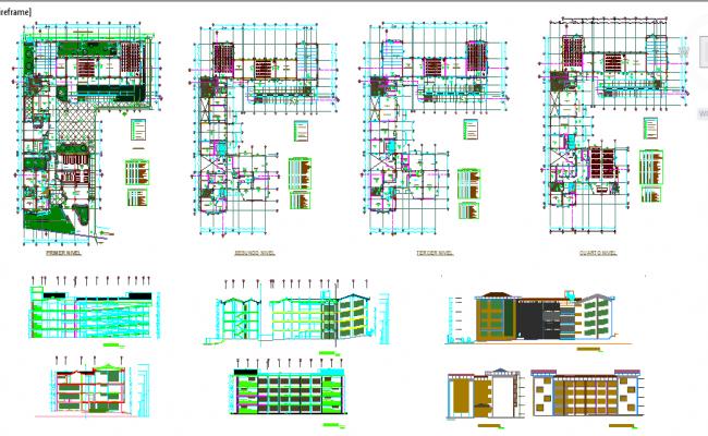 Educational institute Design in autocad file