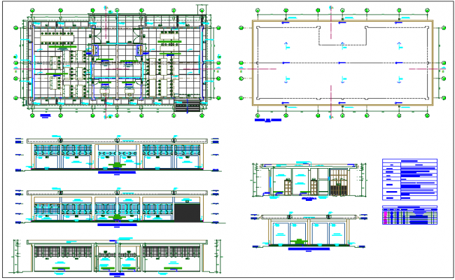 Educational workshop view of collage with plan and elevation view with door and window view with schedule dwg file