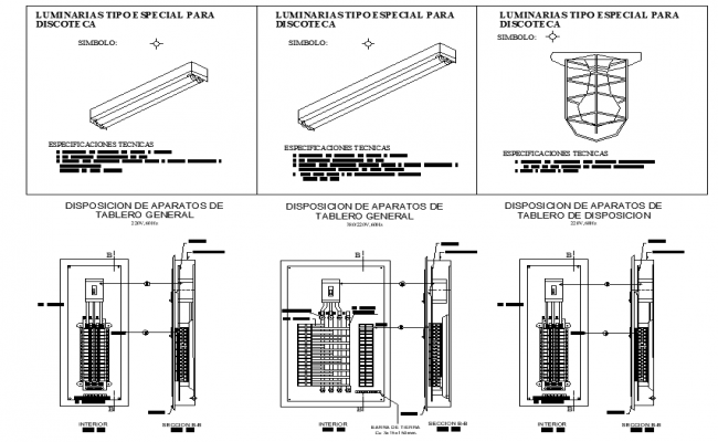 Electric board section plan autocad file