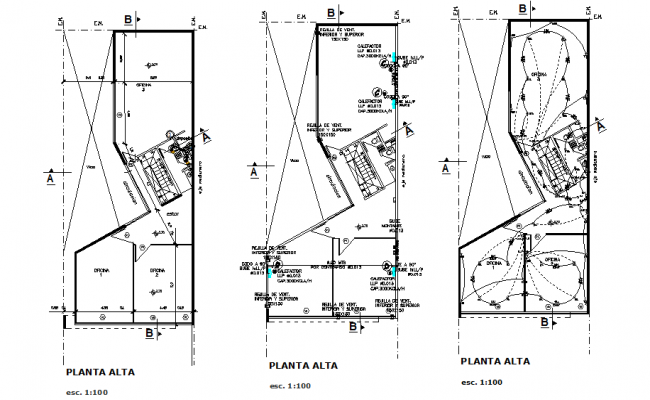 Electric commercial plan detail dwg file
