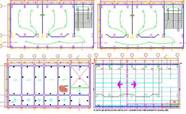 Electric installation of classroom of school building dwg file