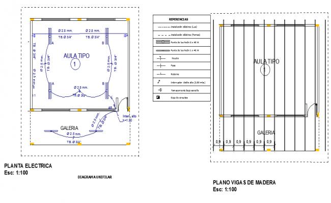 Electric layout plan