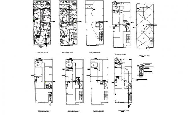 Electric layout plan of residential apartment 6.00mtr x 18.05mtr in dwg file