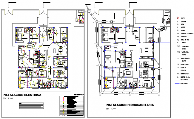 Electric plan and commercial plan detail dwg file