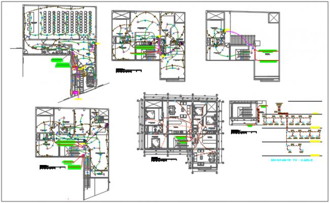 Electric plan detail dwg detail file