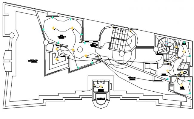 Electric plan detail dwg file