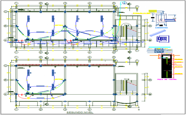 Electric plan layout view detail dwg file