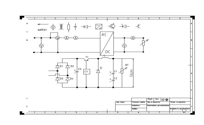 Electric wire diagram symbols