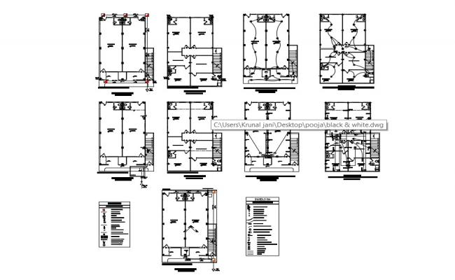 Electrical  Wiring Layout In DWG File