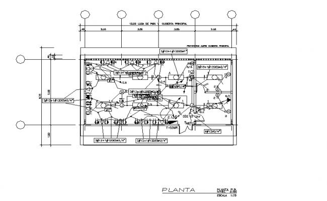 Electrical Center line plan detail dwg file