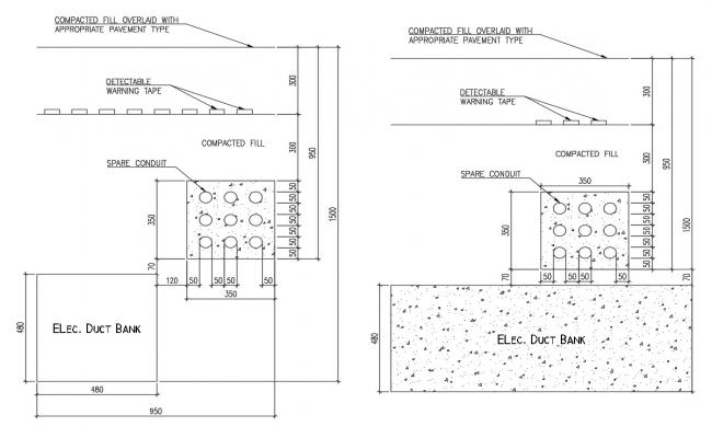 Electrical Duct Bank Drawing