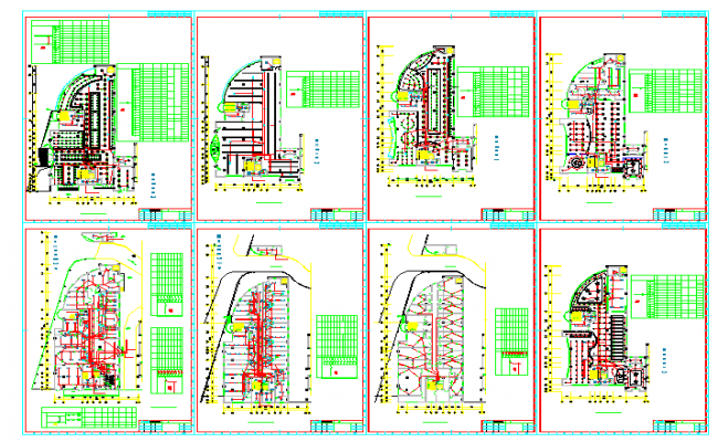 Electrical Lay-out Diagram Design in autocad drawing