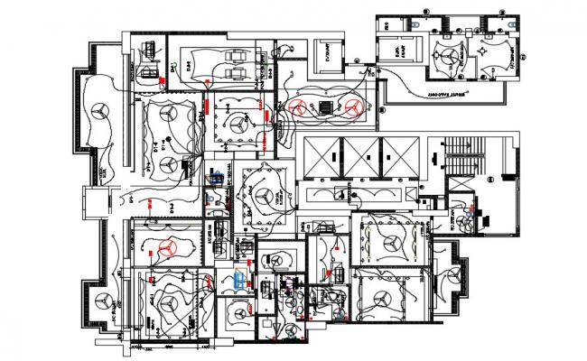 Electrical Wiring Layout Plan Download AutoCAD File
