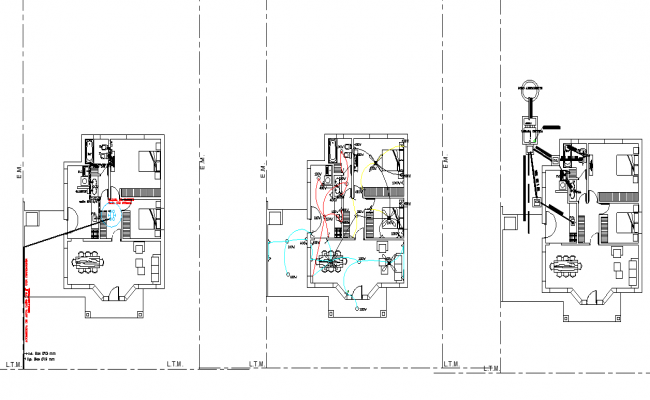Electrical and electrical home plan layout file