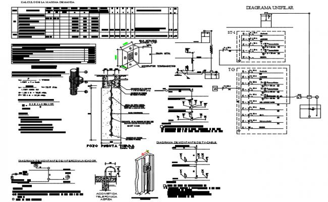 Electrical circuit detail dwg file