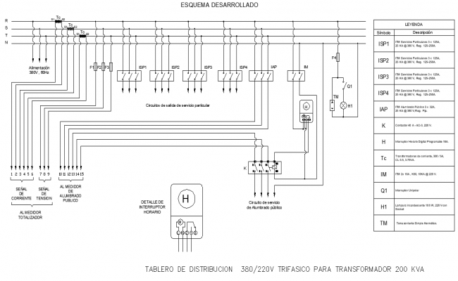 Electrical circuit plan autocad file