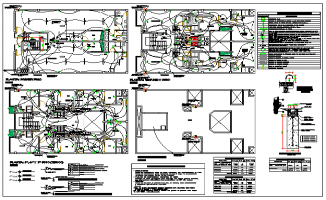 Electrical detail of Multi family housing design drawing