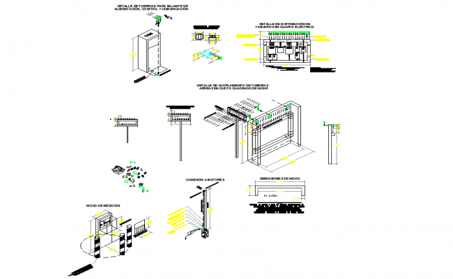 Electrical details in area classified dwg file
