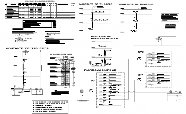 Electrical diagram circuit detail dwg file