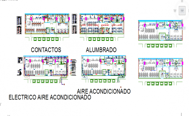 Electrical facilities plans and air conditioning detail file