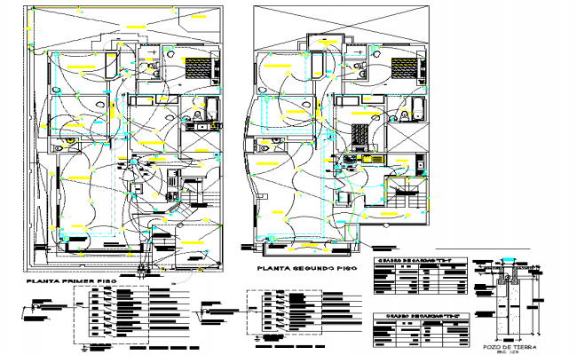 Electrical home plan detail autocad file