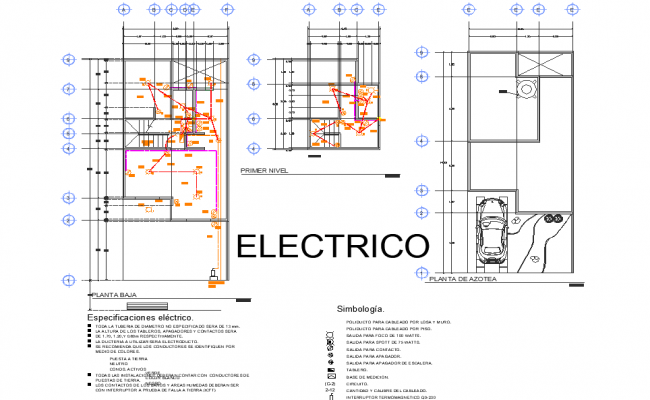 Electrical home plan detail dwg file