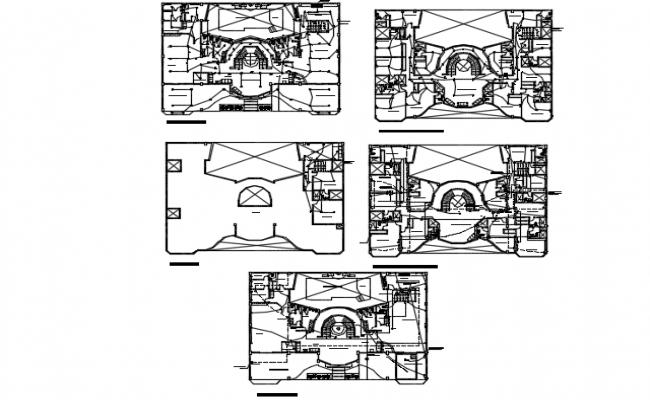 Electrical hotel plan detail dwg file