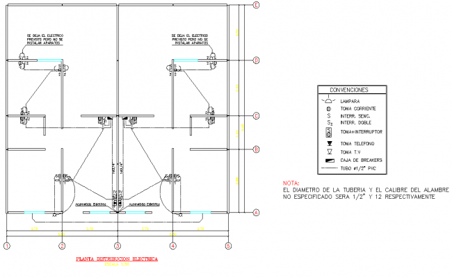 Electrical house plan autocad file
