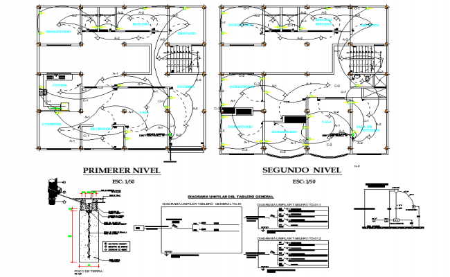Electrical house plan detail
