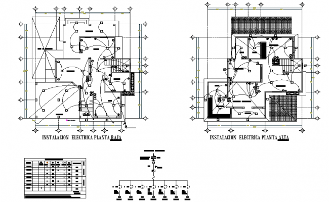 Electrical house plan detail