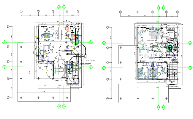 Electrical house plan detail autocad file