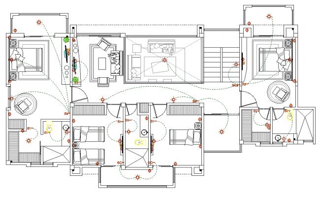 Electrical house plan detail layout file