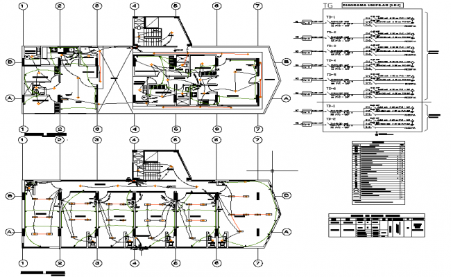 Electrical house plan dwg file
