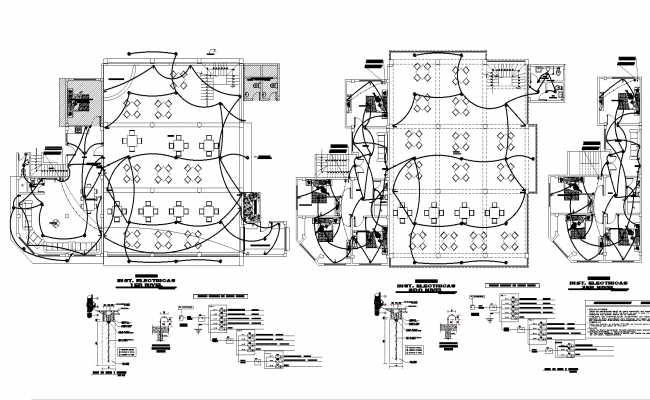 Electrical housing project plan detail dwg file,