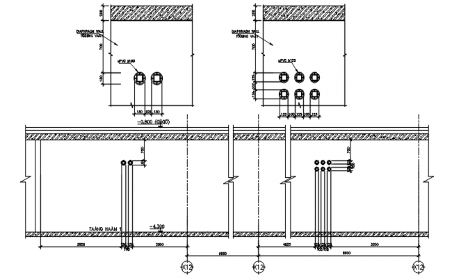 Electrical installation detail in Autocad
