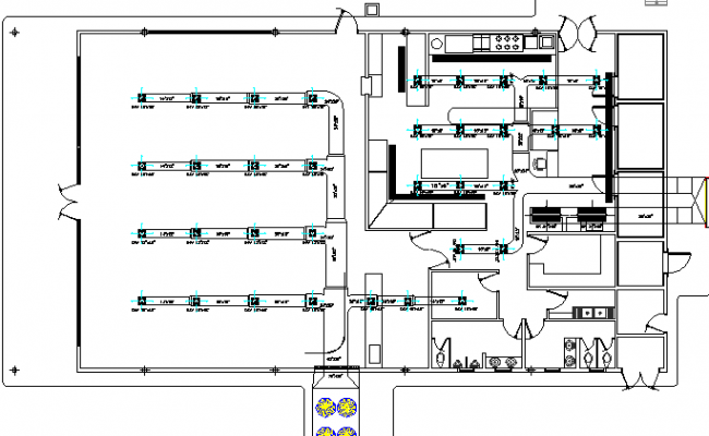 Electrical installation details of air condition of school dwg file