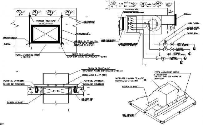 Electrical installation details of building dwg file