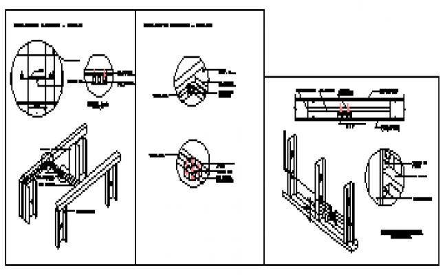 Electrical installation door lock design drawing